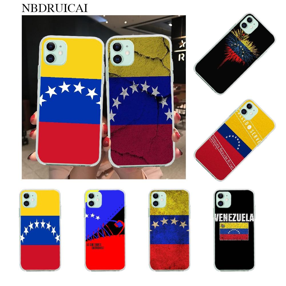 NBDRUICAI Venezuela Flag pattern DIY Painted Bling Phone Case for iPhone 11 pro XS MAX 8 7 6 6S Plus X 5S SE XR cover