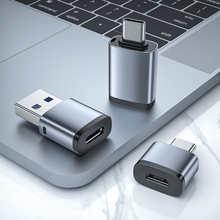 Адаптер USB 3,0 Type-C OTG штекер на Micro USB Тип C гнездо конвертер для Macbook Xiaomi Samsung S10 S20 USBC OTG коннектор