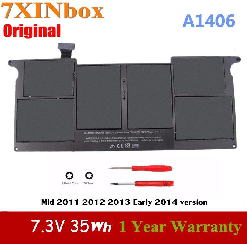 7XINbox-بطارية كمبيوتر محمول أصلية ، A1406 ، 7.3 فولت ، 35 واط ، لأجهزة APPLE Macbook Air ، 11 بوصة ، A1465 ، A1370 ، منتصف 2011 ، 2012 ، 2013 ، أوائل 2014