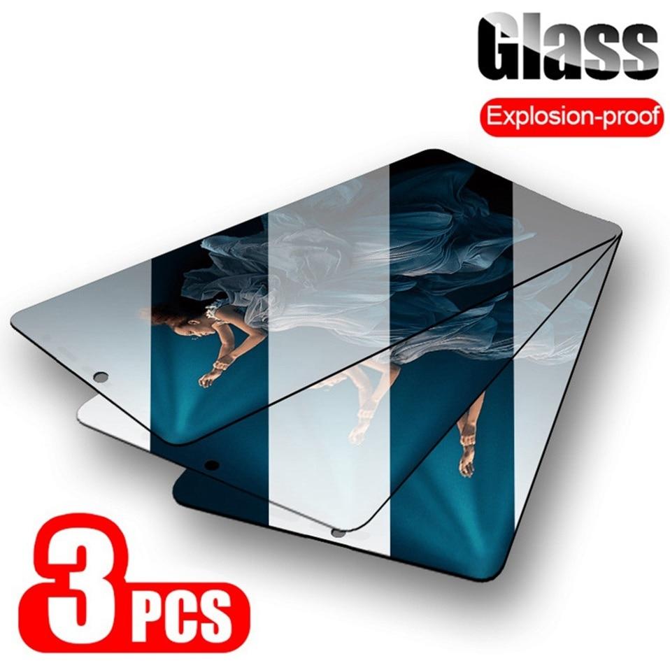 3 шт. закаленное стекло для Honor 10 lite 20 pro 10i 9C A 9 lite view 20 Защитное стекло для экрана для Huawei Honor 8X 9a 9X 20s стекло