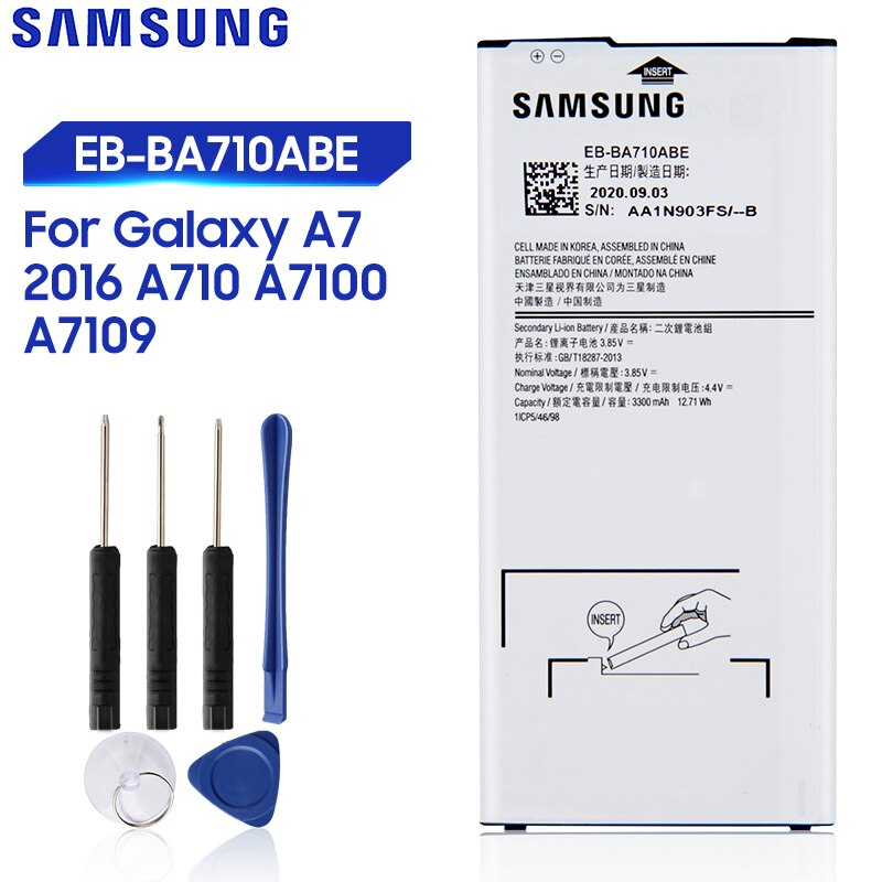Original Replacement Samsung Battery For Galaxy A7 2016 A710 A7100 A7109 A710F Genuine Phone Battery EB-BA710ABE EB-BA710ABA enlarge