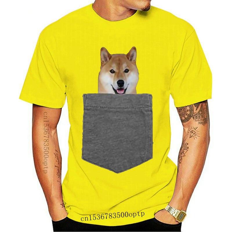 New 2021 2021 Summer Style T-Shirt Dog in Your Pocket Tshirt Shiba Inu Shirt Doge Tee T Shirt
