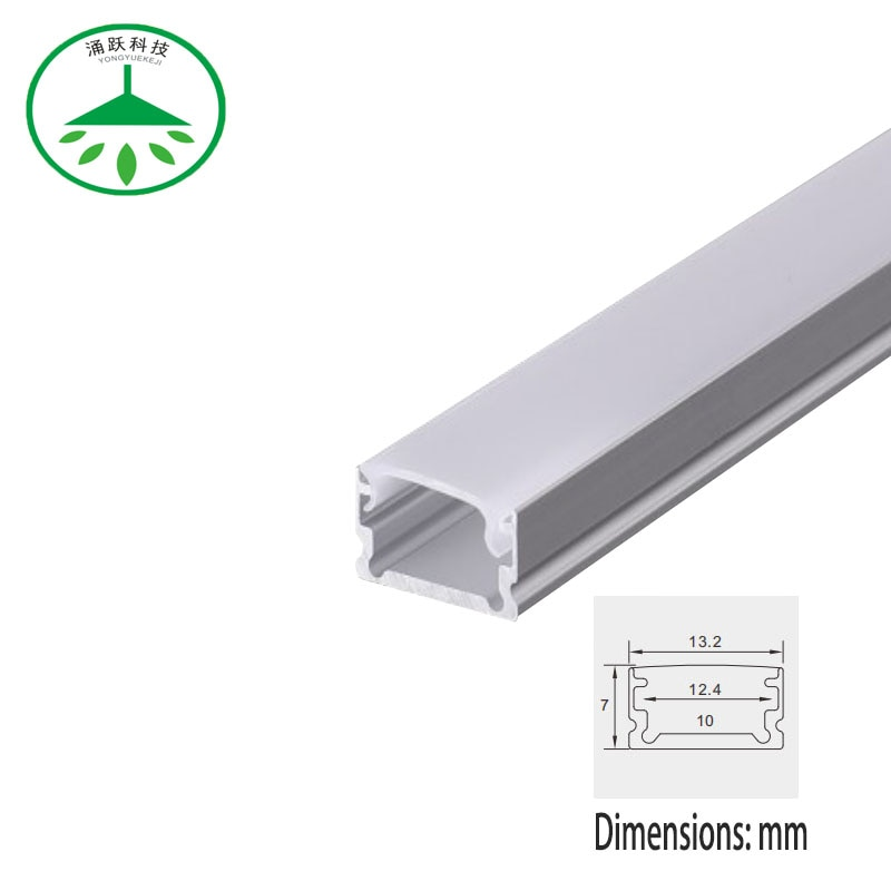 2 unids/lote lámpara LED de 0,5 m de largo con ranura para lámpara de aleación de aluminio ranura en forma de U iluminación radiador de base carcasa para lámpara.