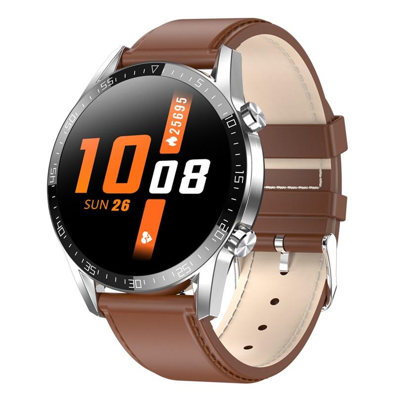 Reloj inteligente L13C con llamada Bluetooth, ECG, pulso, presión arterial, oxígeno, impermeable, IP68, notificaciones, Whatsapp, reloj inteligente para hombres
