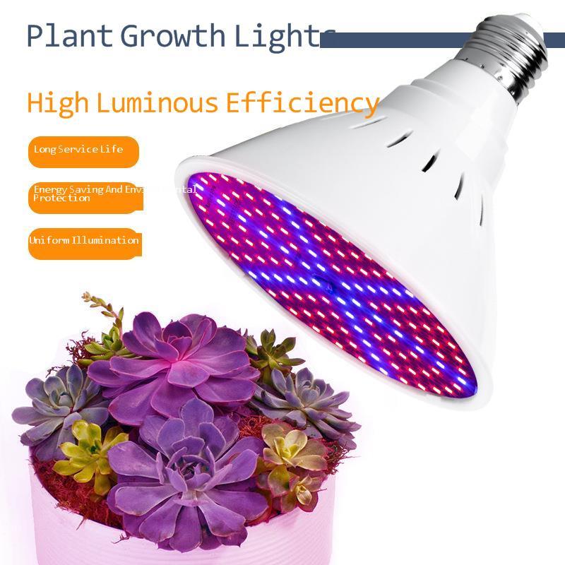 Lámpara Led para cultivo de plantas espectro completo E27 60 cuentas 126 cuentas 200 cuentas planta Fleshy creciente bombilla para luz hidropónica interior