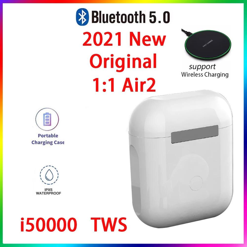 Original i50000 TWS 1:1 GPS nombre auriculares Bluetooth inalámbricos PK i7 i11...