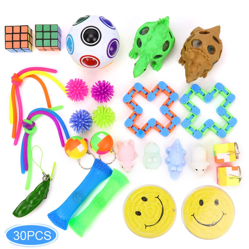 Stress Anxiety Relief Set Fidget Sensory Toy Set pop it Bubble Decompression Children Adult Toy Rubber Birthday Gift enlarge