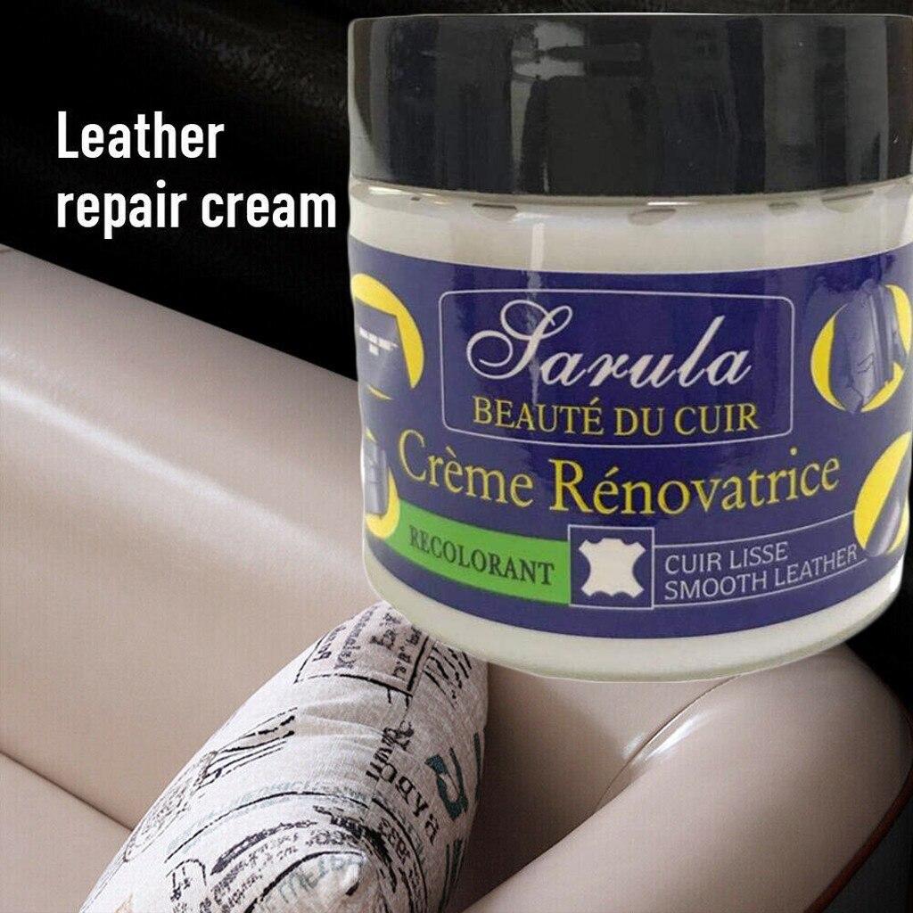 Compuesto de relleno de reparación de cuero para la restauración de cuero grietas quemaduras y agujeros cuero hogar coche Mat limpieza y reparación agente