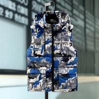 2741 mens vest casual hooded camouflage print loose waistcoat waistcoat large size loose outer wear