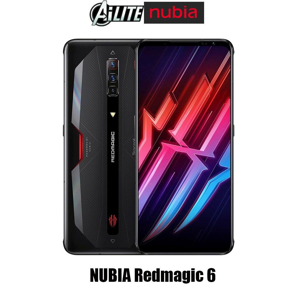 Перейти на Алиэкспресс и купить Глобальная версия Nubia красный Магия 6 5G игровой смартфон 165 Гц частота обновления Snapdragon888 66 Вт 5050 мА/ч, четырехтактный двигатель с воздушные о...
