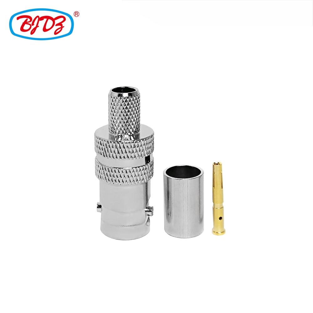 شحن مجاني 10 قطعة BNC الإناث/جاك تجعيد RF موصل محوري ل LMR240/RG59/H155 كابل