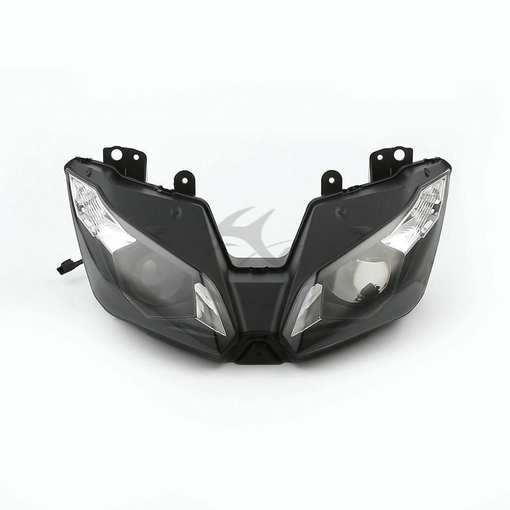 Motorcycle Front Headlight Head Light Lamp For Kawasaki Ninja ZX-6R ZX6R ZX636 2013-2016 15
