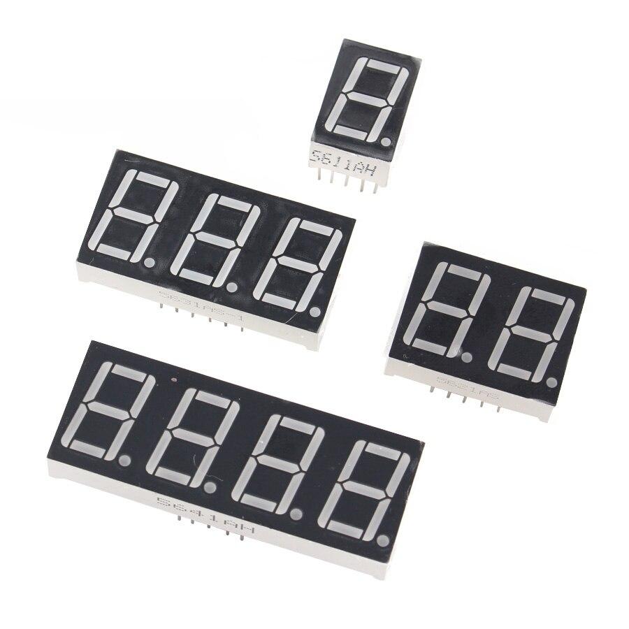 0,36 дюймов 1/2/3/4 бит светодиодный Дисплей 7 сегмент общий анод/анод 1/2/3/4 цифры 0,36 дюймов Дисплей трубки Красный 7-сегментный светодиодный Диспл...