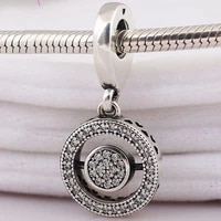 original 925 sterling silver new style pendant with crystal revolving heart fit pandora women bracelet necklace diy jewelry
