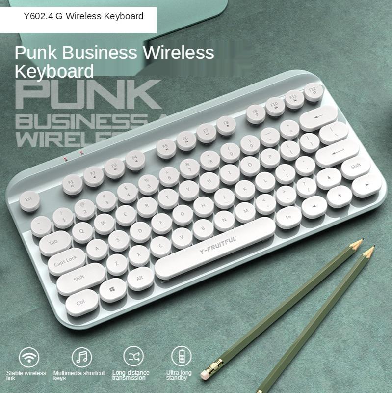 Y60 اللاسلكية لوحة مفاتيح صغيرة لاب توب محمول الرئيسية مكتب الشرير 2.4G لوحة المفاتيح دعوى ويندوز وماك