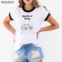 Benefits of biking Anatomy Bicycle Designgraphic tees women funny t shirts woman tshirt top female t-shirt summer clothes