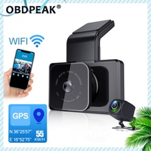 1080P Wifi Dash Cam Gps Track Auto Dvr 30FPS Ultra Hd Super Nachtzicht Camera Video Recorder Auto Telefoon aansluiting 24H Parking