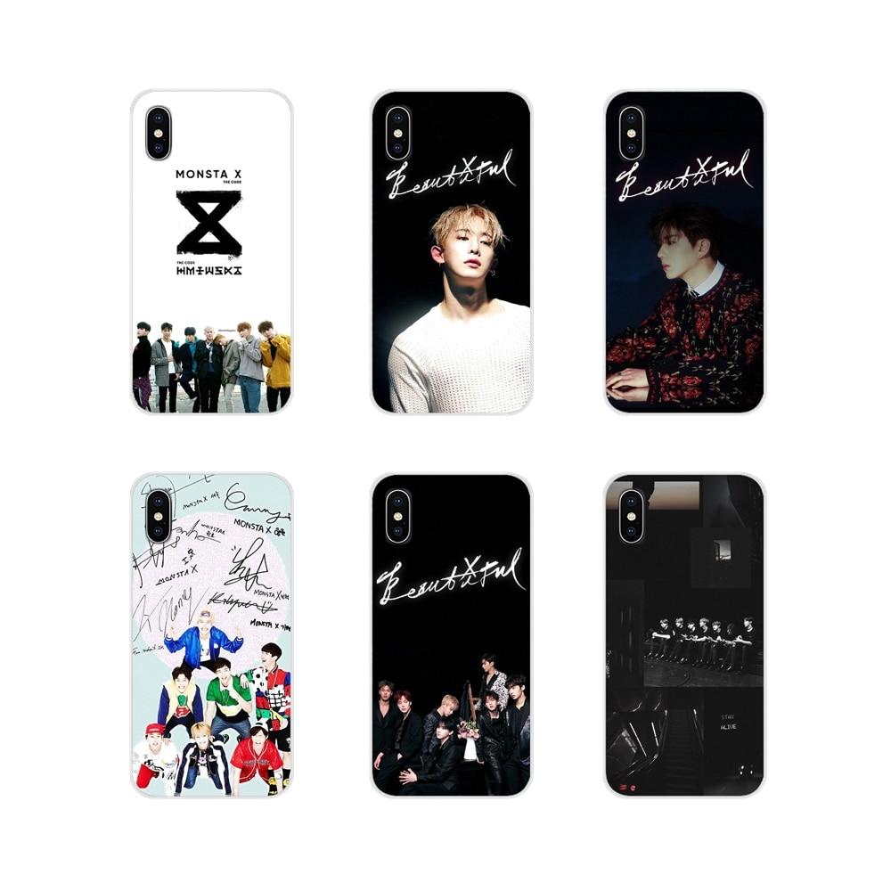 Monsta X KPOP Boy Group Brilliant For Samsung Galaxy A3 A5 A7 A9 A8 Star A6 Plus 2018 2015 2016 2017 TPU Transparent Shell Cover