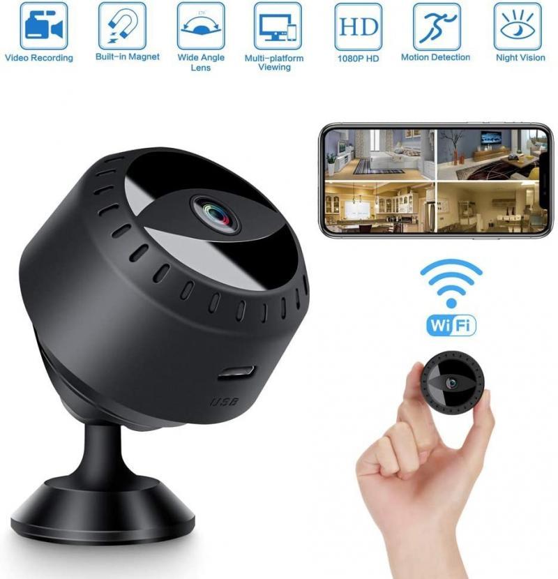 Mini cámara inalámbrica WIFI de 1080P, Micro cámara de seguridad nocturna para PC Webcam para ordenador portátil para Webcam de enseñanza en línea