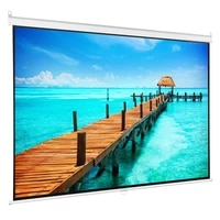 60 84 inch hd 169 manual pull down projector screen self locking matte white fabric fiber glass movie screen for home theater