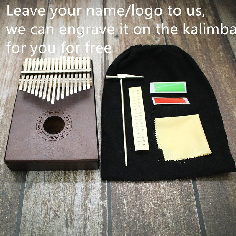 Mw 17 Key Thumb Piano Fienger Paino Mahogany Kalimba Piano African Thumb Piano Music Gift Easy to Learn enlarge