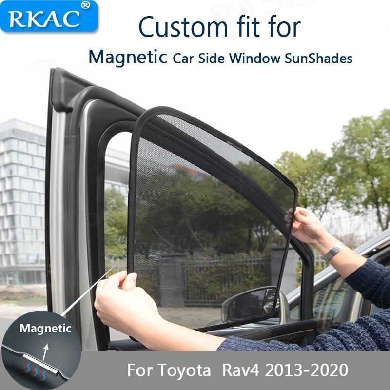 ستارة سيارة مغناطيسية مخصصة ، حماية من الأشعة فوق البنفسجية ، نافذة جانبية ، واقي من الشمس لتويوتا Rav4 2013- 2020