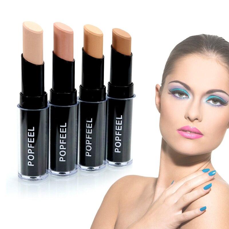 Popfeel-Lápiz corrector, resistente al agua, duradero, base de maquillaje para la cara, contorno bronceador Facial, cosméticos, 1 unidad, TSLM1