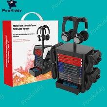 POWKIDDDY Für Schalter PS5 PS4 XBOX Serie CD Disc Kopfhörer Lagerung Halterung Multi-funktionale Spiel Halter Für NS Spiele zubehör