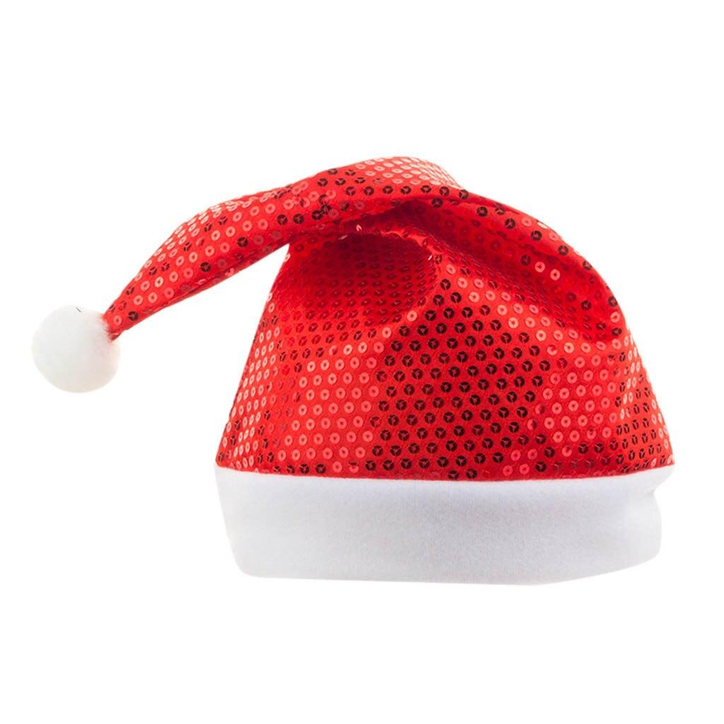Sagace sombreros de invierno para adultos 2020, sombrero de Navidad con lentejuelas rojas y verdes, sombrero de Santa, gorras de vacaciones de Navidad, gorro cómodo Unisex