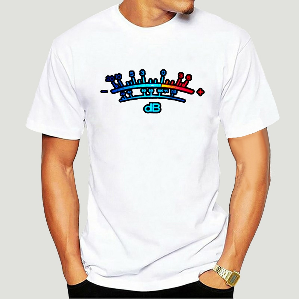 Medidor DB II-Camiseta de música decibelio Retro Grabación de Radio tubo estéreo-estudio...