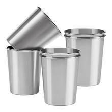 Paquet de 10 tasses de pinte en métal dacier inoxydable incassables verres à boire pour des enfants ou des adultes (8 Oz/230 Ml, 12 Oz/350 Ml)