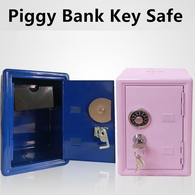 حصالة على شكل حيوان صغير صندوق الأمان المعدني الإبداعية حصالة على شكل حيوان كلمة السر مفتاح الديكور الآمن الأطفال حصالة على شكل حيوان