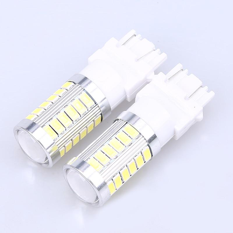 POSSBAY 2 uds T25 33 LED 3157 SMD señal de giro para coche aparcamiento con luces exteriores freno luz de retroceso de marcha atrás Lamb Car Styling