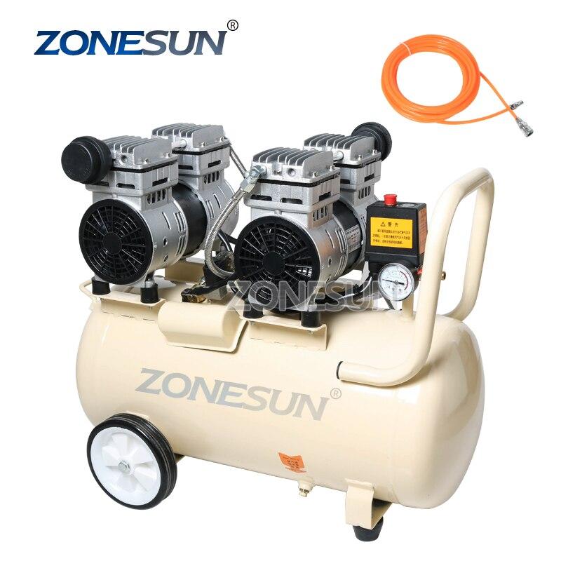 ZONESUN ZS-AC50L النحاس النقي المكبس نوع كتم النفط خالية ضاغط الهواء ل النجارة الطلاء المحمولة مضخة هواء
