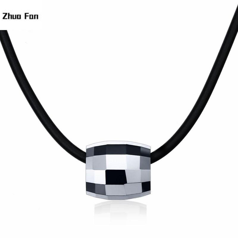 ¡Novedad de 2020! collar de joyería para hombre de marea Original, colgante de acero de tungsteno de 13 MM, collar de color de acero versa