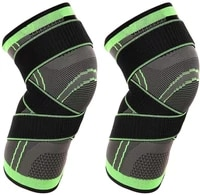 1 pair compression kneepads gym knee brace for men knee support compression knee brace with non slip adjustable pressure strap