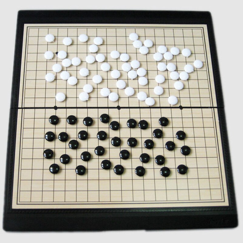 New Foldable Chess Games Go Game Chinese Old Board Game Weiqi Checkers Magnetic Go Chess Set Magnetic Game Toy Gifts Plastic