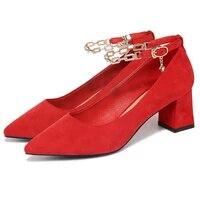 shoes woman moolecole sexy women pumps pointed toe square heels women shoes buckle strap dress shoes 2 9358