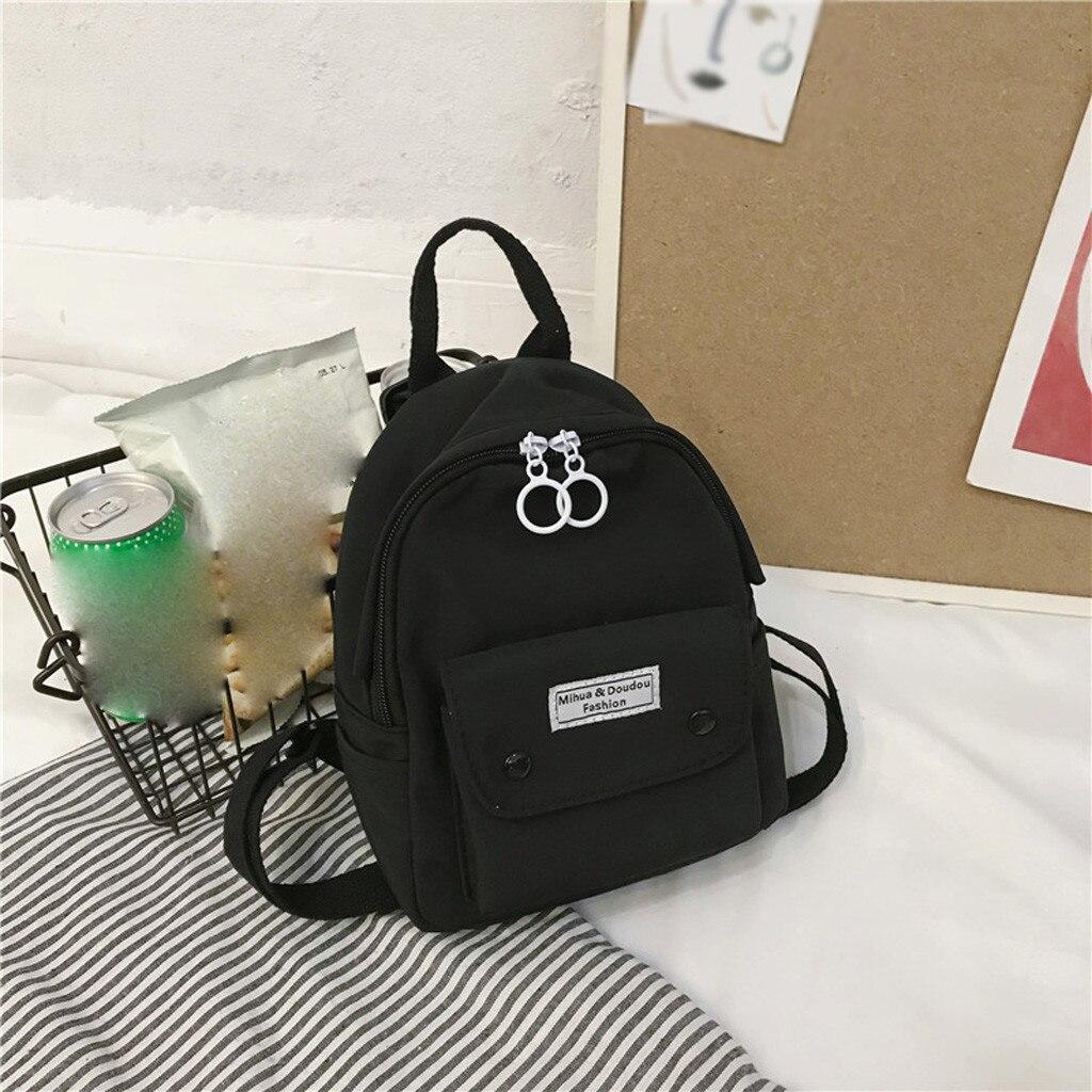 Women Canvas Bag Fashion backpack Women Backpack Small Casual Light Shoulder Bag Travel Bag Mochilas Mujer #j4s