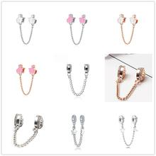 New DIY charm original European Pandora charm charm praise safety chain  bead fit Pandora bracelet trinket DIY women jewelry
