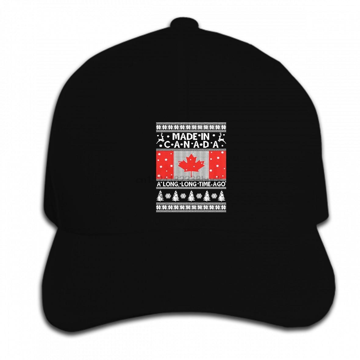 Estampado personalizado gorra de béisbol Hip Hop divertido hombres mujeres novedad feo suéter de Navidad para canadiense cool Hat Peaked Cap