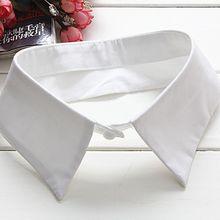 Classic Black/White Collar Shirt Fake Collar Tie Vintage Detachable Collar False Collar Lapel Blouse