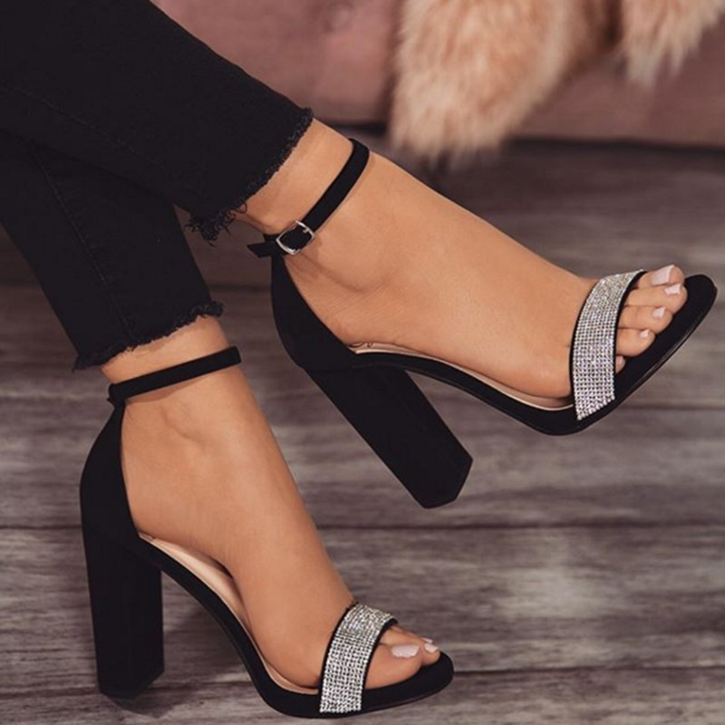 2020 mujeres 11,5 cm de alto tacón plataforma de cristal sandalias señora fetiche Stripper zapatos de Stripper Chunky tacones brillo bombas