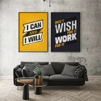 wall art canvas poster painting print picture living bedding study room home decor original inspirational phrases letters quotes
