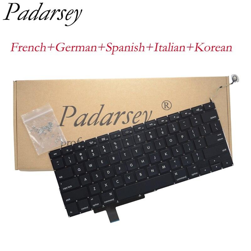 Pardarsey استبدال لوحة المفاتيح متوافق مع ماك بوك برو Unibody 17