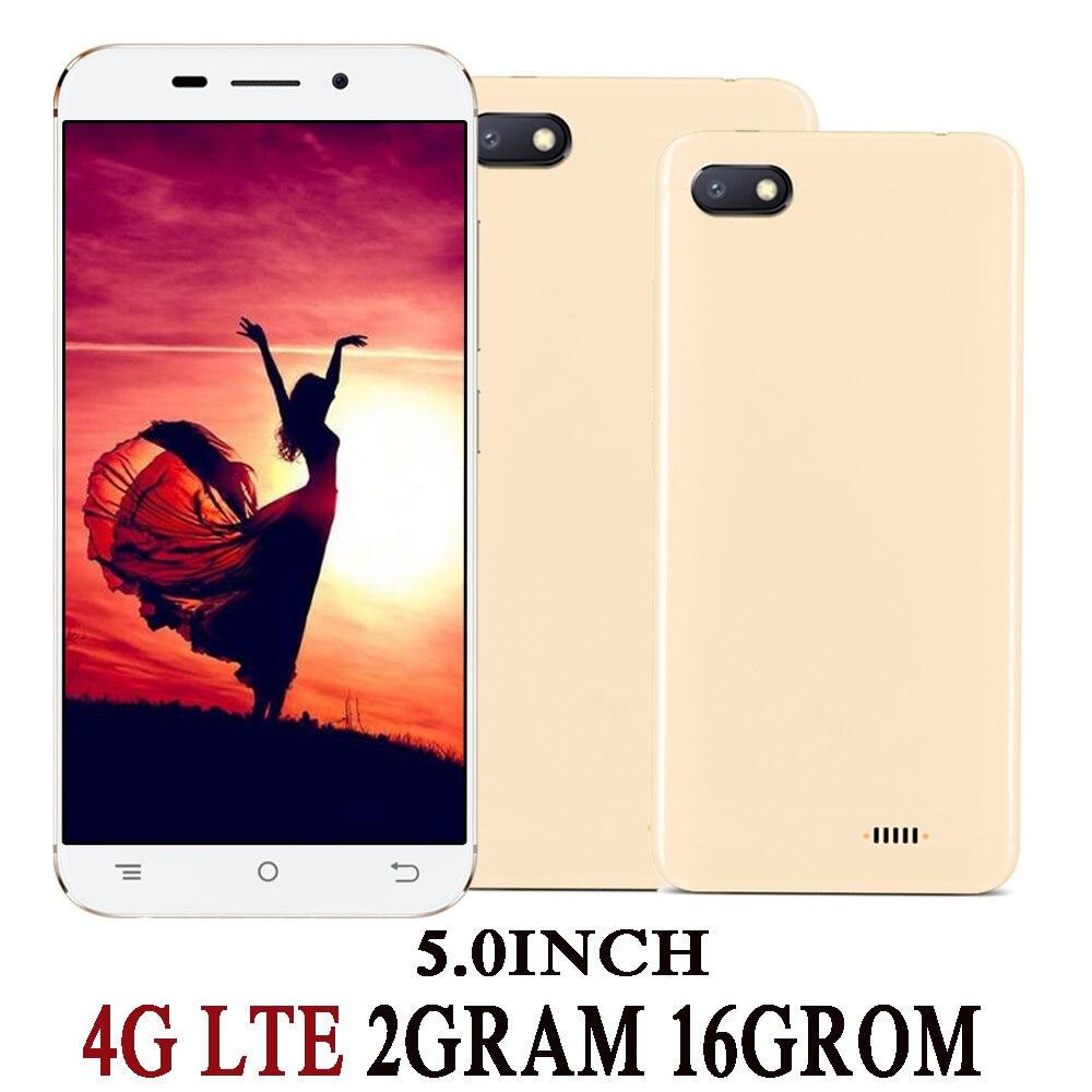 7c 4g lte versão global smartphones quad core 5.0 polegada 2g ram + 16g rom 2mp 5mp hd frente/voltar telefones celulares android 6.0 celuares