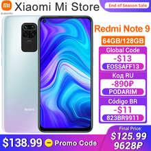 Global Version Xiaomi Redmi Note 9 3GB RAM 64GB ROM Smartphone MTK Helio G85 Octa Core 48MP Quad Rear Camera 5020mAh Cell