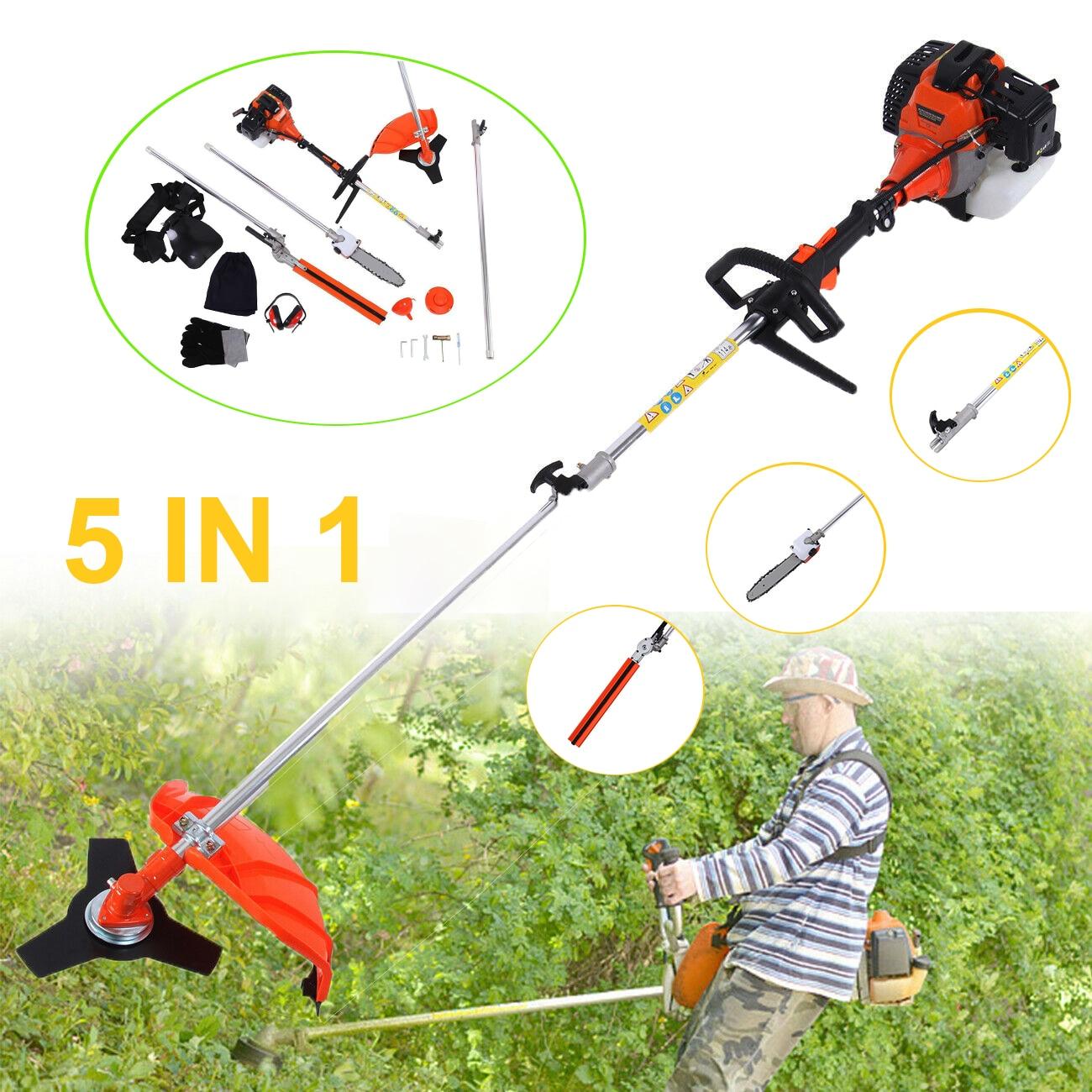 Honhill 5 in 1 52cc Petrol Chainsaw Hedge Trimmer Brush Cutter Grass Strimmer Pruner