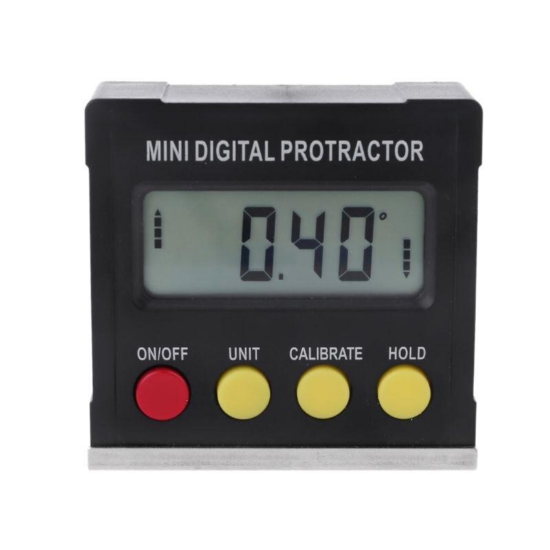 360 grados Digital Protractor inclinómetro electrónico caja de Nivel Magnético Base herramientas de medición