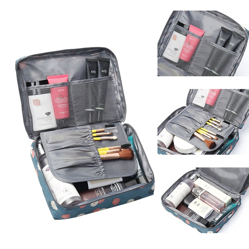 Portable cosmetic storage box Outdoor travel toiletries children's products storage bag Home Multifunction large cosmetic bag